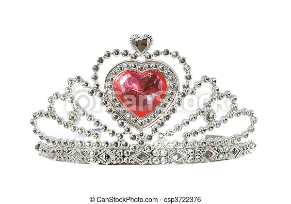 Silver diadem isolated on the white background - csp3722376