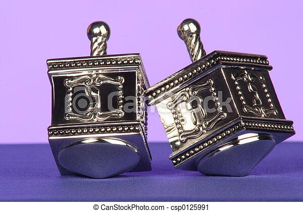 silver dreidels - csp0125991