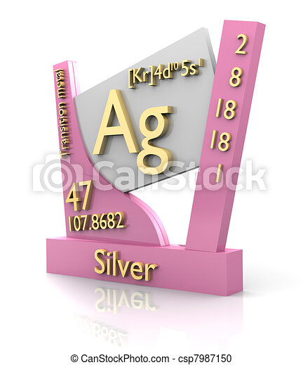 Silver form periodic table of elements v2 silver form periodic silver form periodic table of elements v2 csp7987150 urtaz Images