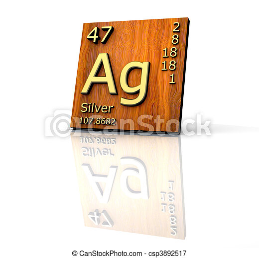 Silver form periodic table of elements wood board silver form periodic table of elements wood board csp3892517 urtaz Images