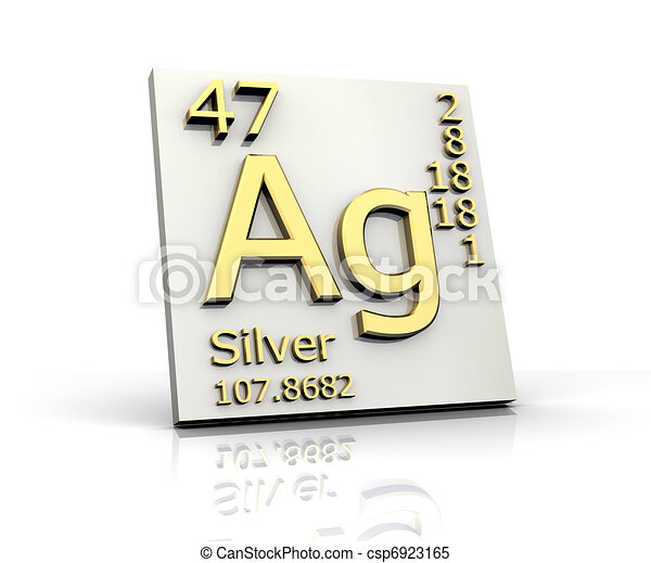 Silver form periodic table of elements 3d made silver form periodic table of elements csp6923165 urtaz Images