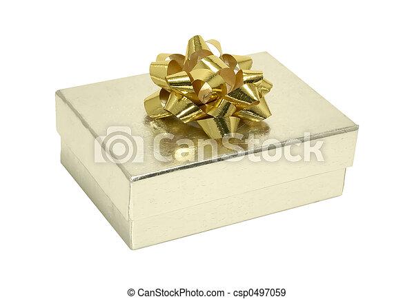 Silver Gift Box - csp0497059