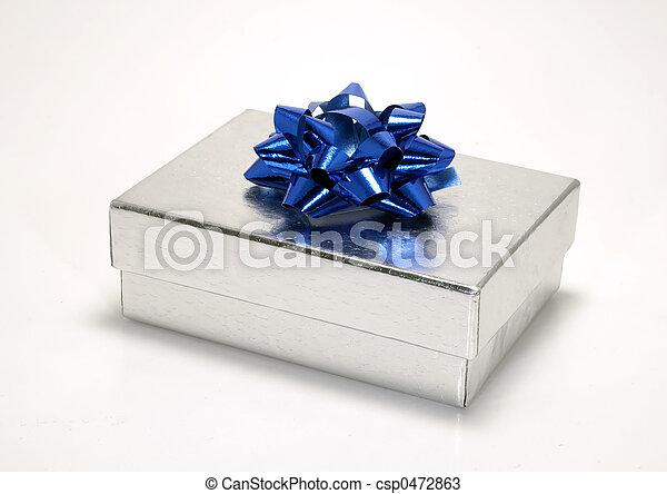 Silver Giftbox - csp0472863