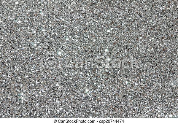 Silver Glitter Texture Background   Csp20744474