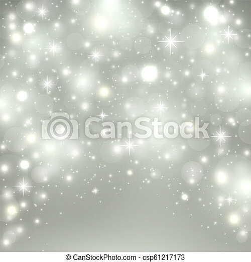 Christmas Holiday Background.Silver Light Background Christmas Design With Snow Snowflakes Sparkle Stars Glitter Winter Holiday Background With Xmas Decoration Vector