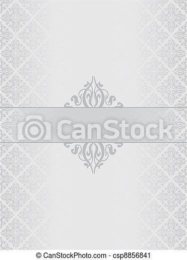 Silver luxury background - csp8856841