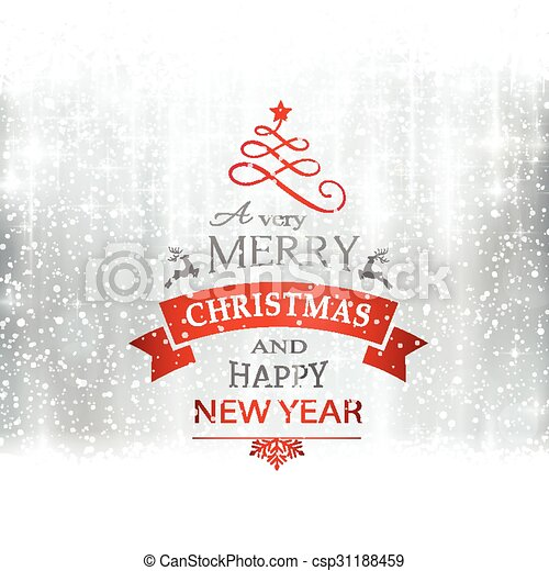 Silver merry christmas typography c. Abstract silver winter ...