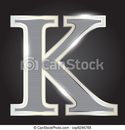 Silver metallic fonts vector illustration - csp9246768