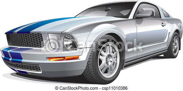silver muscle car - csp11010386