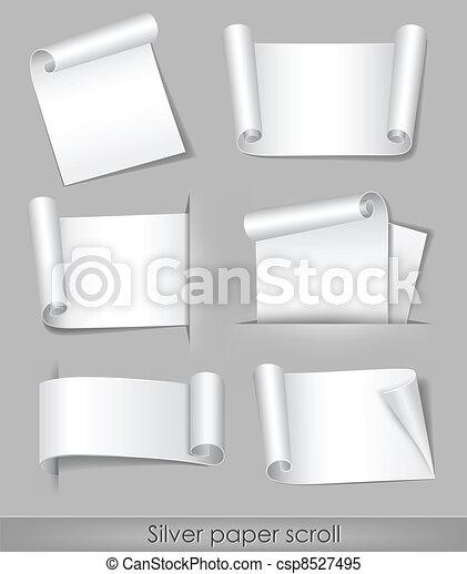 Silver paper scroll - csp8527495