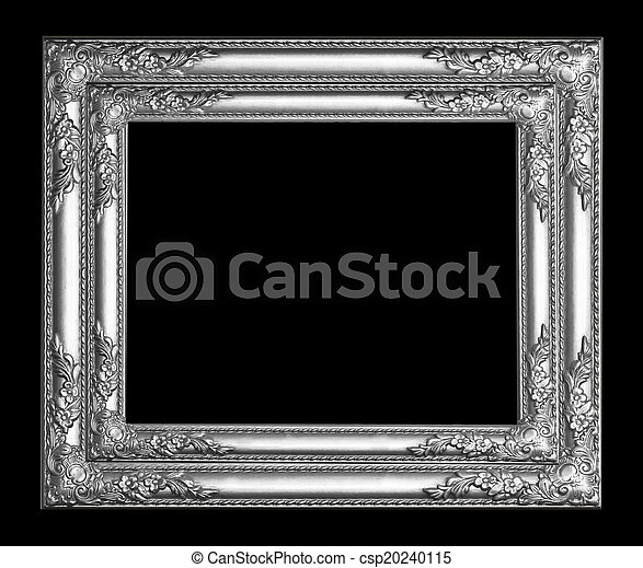 Silver picture frame - csp20240115