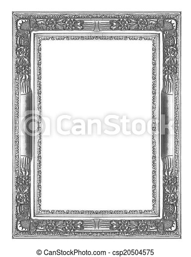Silver picture frame - csp20504575