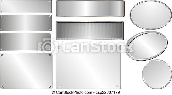 silver plaques - csp22807179