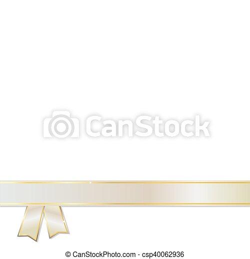 Silver Ribbon on white background - csp40062936