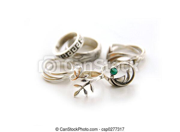 Silver rings - csp0277317