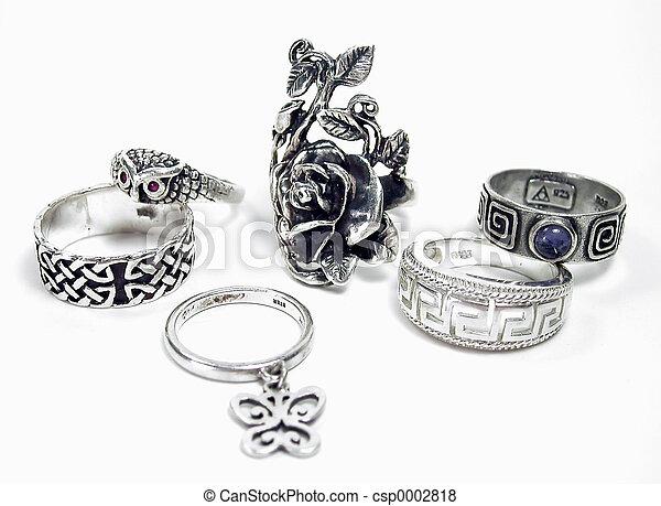 Silver Rings - csp0002818