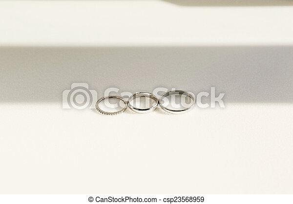 Silver rings - csp23568959