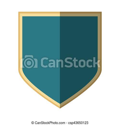 silver shield protection badge shadow - csp43650123