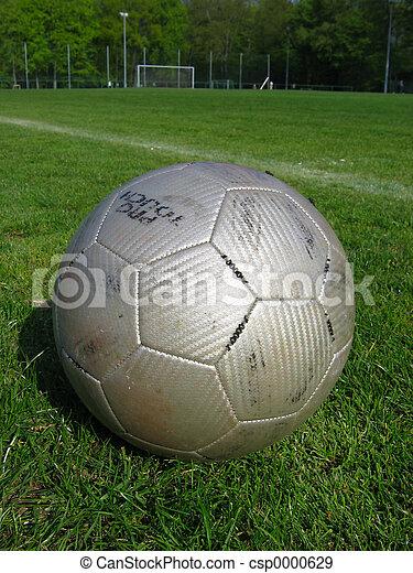 Silver soccer ball - csp0000629