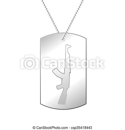 Silver soldier badge - csp35418443