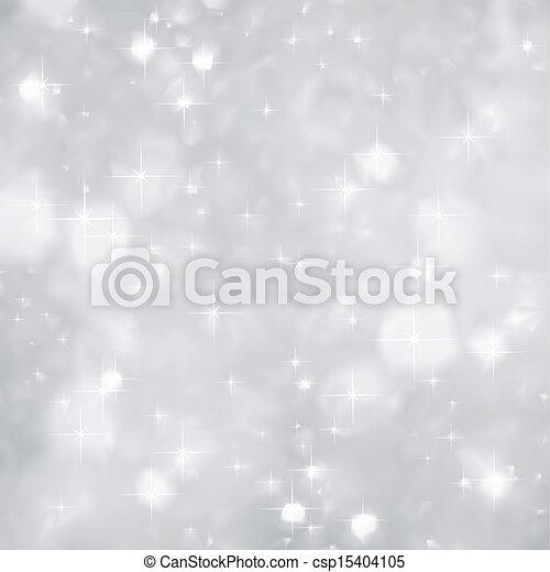 Silver Sparkles background christmas. Vector - csp15404105