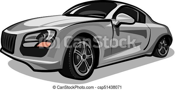 silver sport car - csp51438071