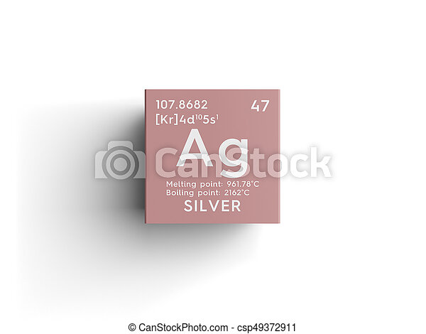 Silver transition metals chemical element of mendeleevs stock silver transition metals chemical element of mendeleevs periodic table csp49372911 urtaz Image collections