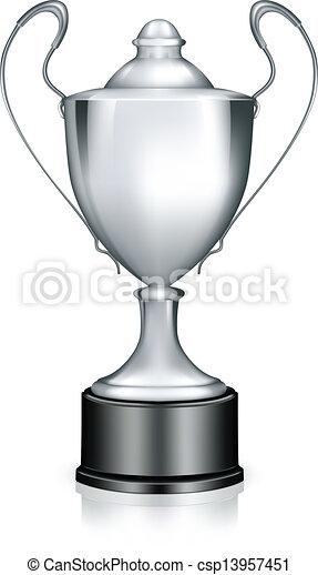 Silver Trophy, vector - csp13957451