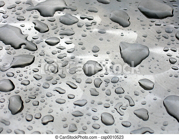 Silver Waterdrops - csp0010523