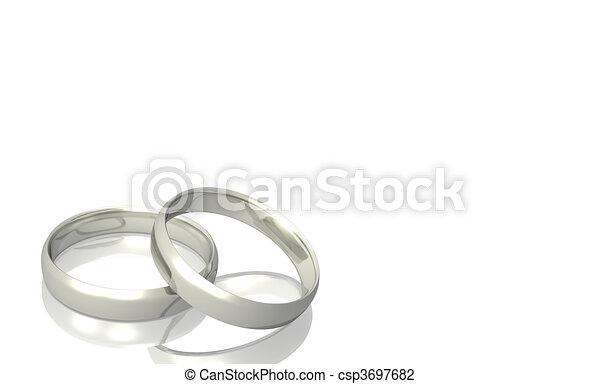 Silver Wedding Rings Stock Illustration
