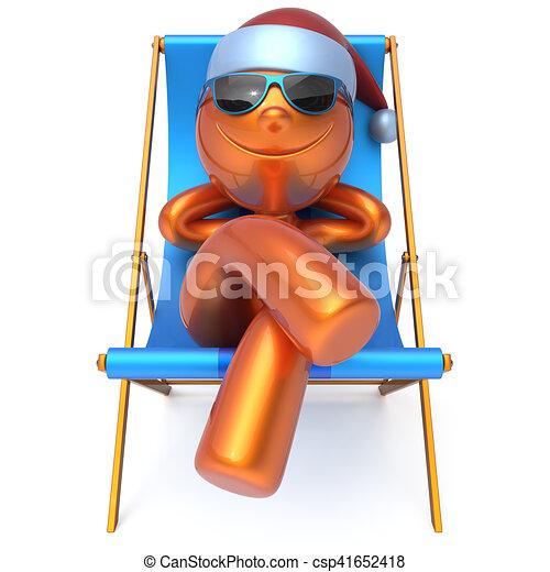 Mann im liegestuhl clipart  Sommer sonnenbrille deck smiley urlaub rest stuhl sandstrand mann ...