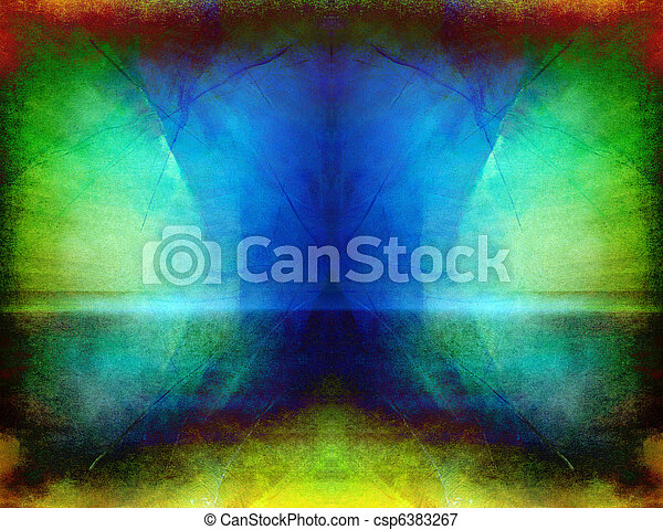 simétrico, arte abstracto - csp6383267