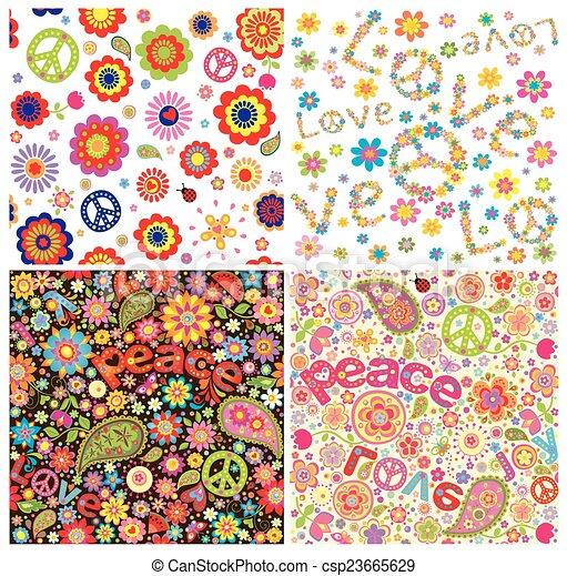 Simb lico hippie papeles pintados ilustraci n vectorial buscar im genes de galer a - Imagenes de papeles pintados ...
