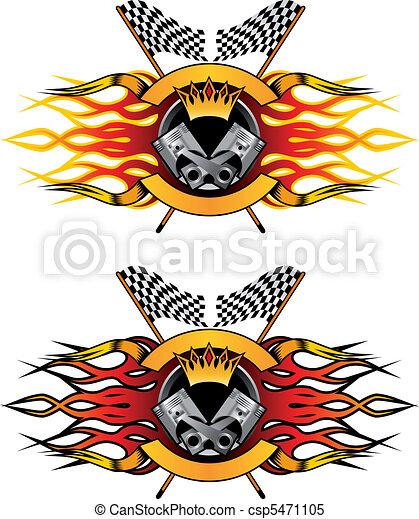 simboli, da corsa, icone - csp5471105
