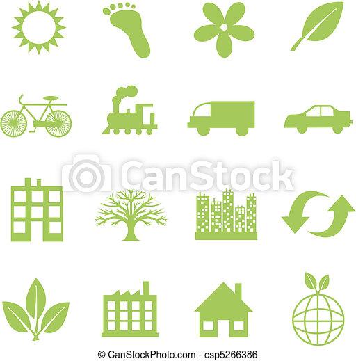 simboli, ecologia, verde - csp5266386