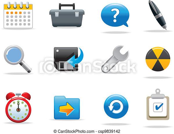 simboli, icone fotoricettore - csp9839142