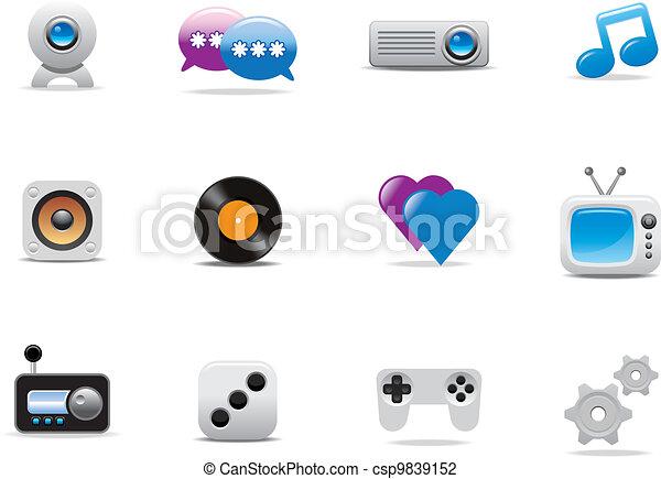 simboli, icone fotoricettore - csp9839152