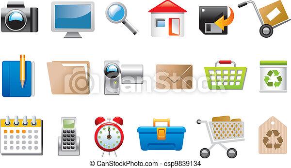 simboli, icone fotoricettore - csp9839134