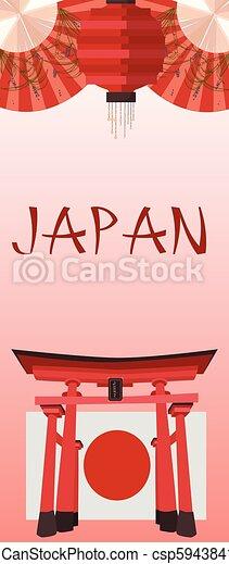 simboli, manifesto, giapponese - csp59438413
