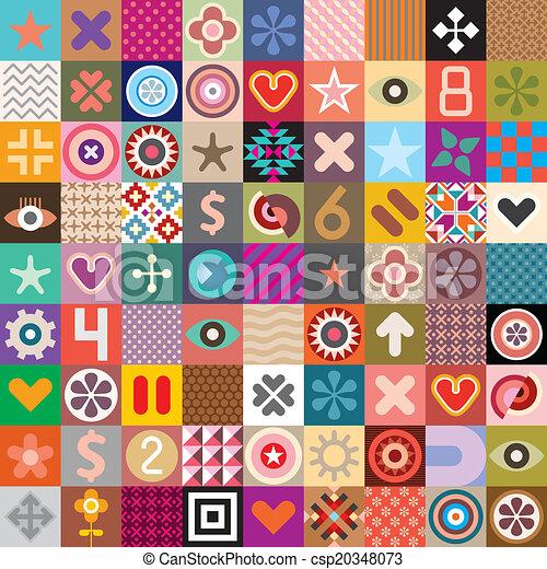 simboli, modelli, astratto - csp20348073