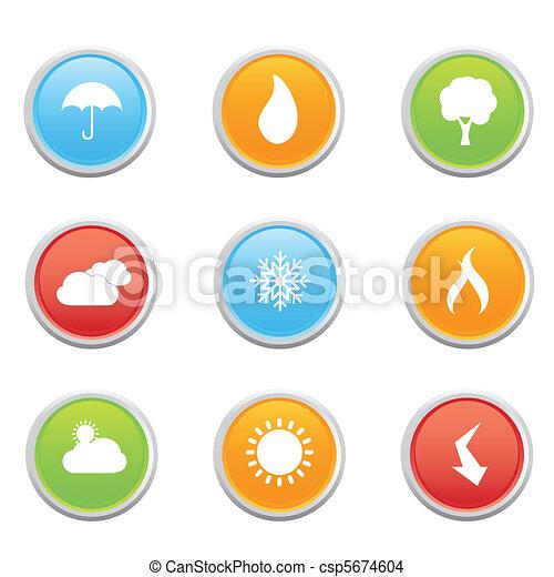 simboli, previsione tempo - csp5674604