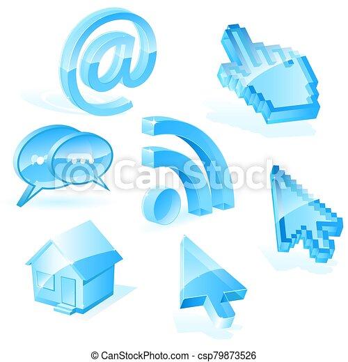 simboli, web - csp79873526