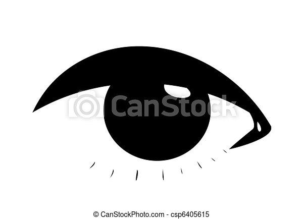 simbolico, occhio, femmina - csp6405615
