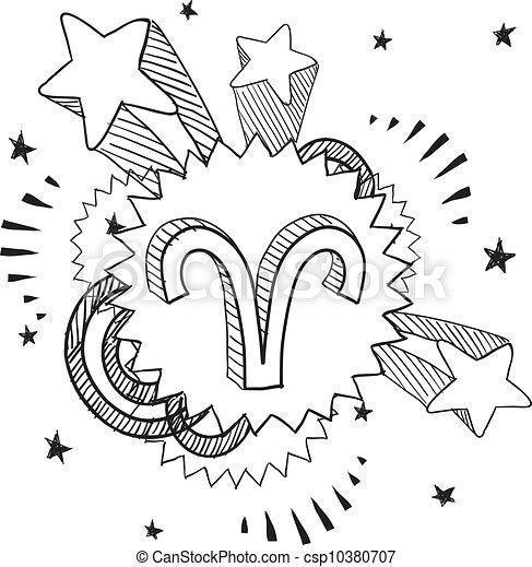 simbolo, ariete, pop, astrologia - csp10380707