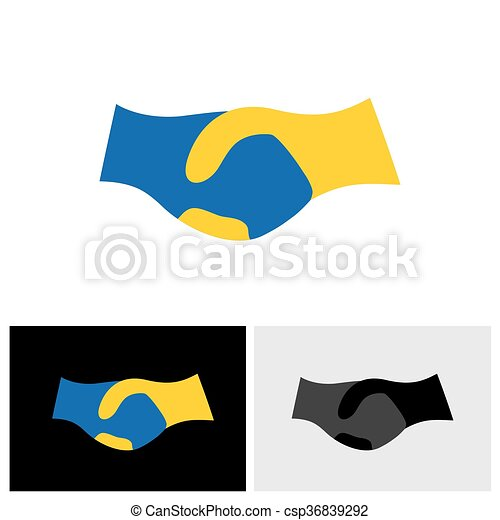 &, simbolo, associazione, -, mano, fiducia, vettore, scuotere, amicizia, icona - csp36839292