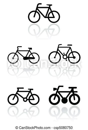 simbolo, bicicletta, set., illustrazione - csp5080750