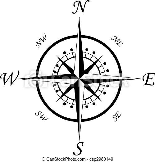 simbolo, bussola - csp2980149
