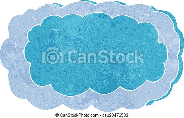 simbolo, cartone animato, nuvola - csp20476533