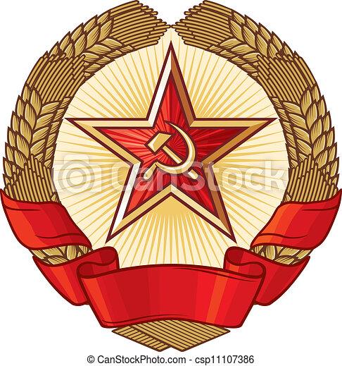 simbolo, comunismo, (ussr) - csp11107386