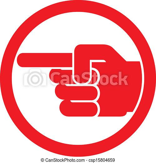 simbolo, indicare barretta - csp15804659